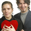 Young casual couple in love — Stock Photo