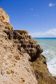 Rocky coast of algarve, the south of portugal — Stock Photo