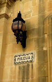 Old lamp in the city of Mdina — Stock Photo