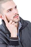Młody człowiek dorywczo myślenia — Zdjęcie stockowe