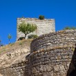 Ourem old castle at the top of the hill — Stockfoto