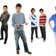 Stock Photo: Group of young men full body