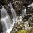 Waterfall in the portuguese national park — Stock Photo