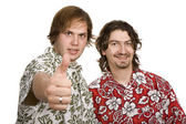 Two young casual men — Stock Photo