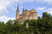 Old cathedral of Covadonga in Asturias — Stock Photo