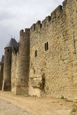 The ancient fortification of Carcassone — Stock Photo
