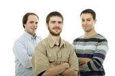Three casual men — Stock Photo