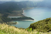 Lake of fire in azores island — Stock Photo