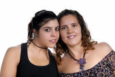 Two young casual women — Stock Photo