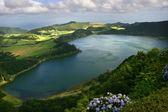 Azory jeziorem furnas — Zdjęcie stockowe