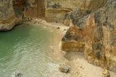 Coastal rocks at the south of portugal — Stock Photo