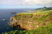 Azores coastal cliff at sao miguel island — Stockfoto