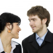 Young business couple — Stock Photo #23835285