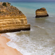 Beautiful beach at algarve — Stock Photo