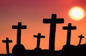 Sunset cross — Stock Photo