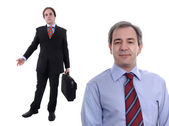 Two businessmen with a suitcase — Stock Photo