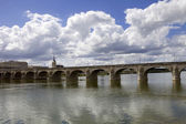Saumur bridge — Stock Photo