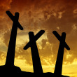 Sunset cross — Stock Photo