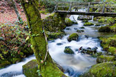River waterfall in the portuguese national park of Geres — Stock Photo