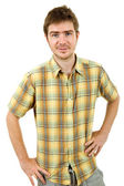 Happy young casual man — Stock Photo