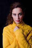 Young beautiful woman close up — Stock Photo