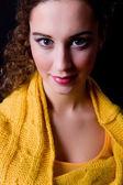Portrait of beautiful woman close up — Stock Photo