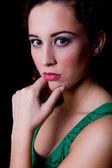 Thinking beautiful woman — Stock Photo