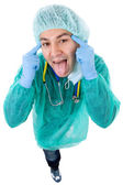 Silly doctor — Foto de Stock