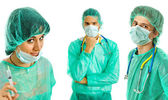 Three young doctors — Stock Photo