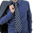 Blue tie — Stock Photo