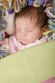 年幼的婴儿睡觉 — 图库照片