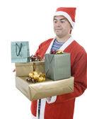 Santa presenter — Stockfoto
