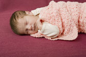 Young baby sleeping — Stock Photo