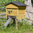 Beehive with bees on an apiary — Stock Photo
