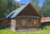 Wooden house in the museum of history of the river of Chusovaya, — Stock Photo