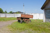Old ferruginous trailer from a truck — Stock Photo