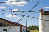 Barbed wire in the museum of political repressions, Perm edge, R — Stock Photo