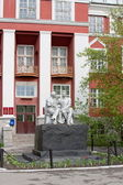 Monument Lenin and Gorki on territory of the State university, c — Stock Photo