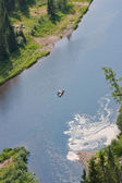 Ural nature on the river, Perm edge, Russia — ストック写真