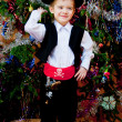 Little boy in the suit of pirate — Stock Photo
