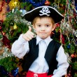 图库照片: Little boy in suit of pirate