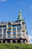 Belo edifício na nevsky prospekt, a cidade de st petersbur — Foto Stock
