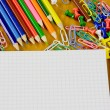Stock Photo: Bright school belonging, office commodities