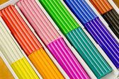 School belonging, bright plasticine — Stock Photo