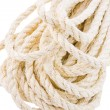 Rope twisted on a white background - Stock Photo