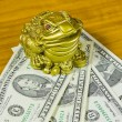 Stock Photo: Souvenir is frog and dollars