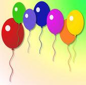Aire brillantes mármoles coloreados inflable — Foto de Stock