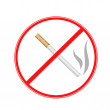 Sign strikethrough cigarette on a white background — Stock Photo