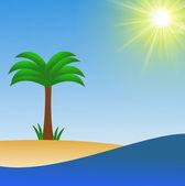 岸上棕榈海、 光栅图 — 图库照片