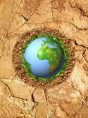 Global warming of planet earth — Stock Photo